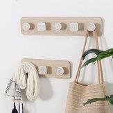 Wood Coat Hanger Wall Hook Clothes Hangers Key Holder Wall Mounted Coat Rack