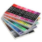 100 Adet / takım Colorful Çift Kafa Çizim Suluboya Kalemler Grafiti Sanatı İşaretleyiciler Çizim Kroki Kalem