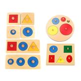 Houten geometrisch puzzelbord Educatief legpuzzel voor kinderen Peuterpuzzel Speelgoed voor kinderen Geschenken