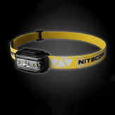 NITECORE NU17 130LM Phare USB Rechargeable 5 Modes IP66 Étanche Camping Randonnée Vélo Pêche Léger
