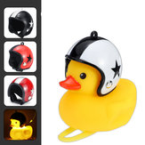 Cartoon Duck Bicycle Bells Handlebar Duck LED Head Light Ring Wind Duck & Helmet