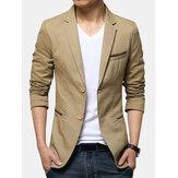 Mens Gentlemen Business Casual Fashion Delgado Fit Pure Color Small Suit Coat Blazers