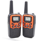 2 Pcs À Prova D 'Água 400-470MHz 22CH Operado Por Voz Transmitir Walkie Talkie Até 8KM com Lanterna Rádio em Dois Sentidos 10 Tons de Chamada