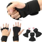 1 زوج قفازات رفع الأثقال تدريب القوة سليمالجسم قفازات المعصم التفاف ممارسة الرياضة المعصم الدعم