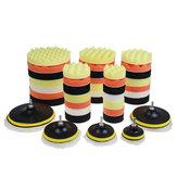 10pcs 3/4/5/6/7 pouce polissage polissage éponge à polir tampons kit ensemble pour voiture polisseur perceuse