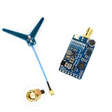 MATEK Systems VTX-1G3-9 1,2 GHz 1,3 GHz 9CH International INTL-Version FPV-Videosender für RC-Drohnenschutzbrillen zur Überwachung der großen Reichweite von Flugzeugen