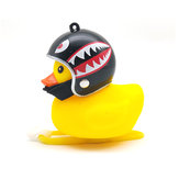 Creative Glow Duck Toys with Helmet for Bicycle Turbo Bell Lamp
