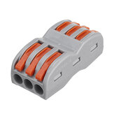 Excellway 3Pin Wire Docking Connector Anschlussblock Universal Quick Terminal Block SPL-3 Elektrokabel Wire Connector Terminal 0.08-4.0mm²