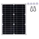 40 W 18 V Su Geçirmez Mono Solar Paneli Çift 12 V / 5V DC USB Monocrystaline Esnek Solar Şarj Için Araba RV Bot Batarya Şarj