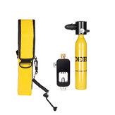 ダイビングセット機器0.5Lミニスキューバ酸素シリンダー水中ダイビングアクセサリーツール空気酸素タンクW /アダプター&ストレージバッグ