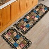 2 szt. Domowa podłoga w kuchni Dywan antypoślizgowy dywanik Drzwi do łazienki Mat