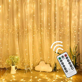 3M * 3M USB 8 trybów 300LED Kurtyna Fairy Wire String Light Christmas Party Decor Holiday Wedding Supply