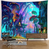 Wall Hanging Mystics Psychedelic Tapestry Mushroom Pattern Mandala Mat Decorations