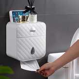 Paper Towel Dispenser Wall Mounted No-drilling Paper Shelf Holder Bathroom Coreless Toilet Tissue Dispenser Garbage Bags Holder Home Paper Extraction Dispenser (1 Layer Or 2 Layers to Optional)