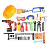 Toolbox voor kinderen Babysimulatie Reparatie Tool Elektrische boor Schroevendraaier Reparatie Tool Speelgoedset Jongen Kid Speelgoed Ambachtsman DIY Hand Engineer Tool