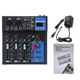 4 Channels Audio Mixer Usb Mini Sound Mixing Console Audio Mixer Amplifier Bluetooth 48V Phantom Power For Karaoke Ktv Match Party