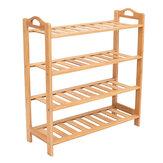 2/3/4/5 Tier Schuhablage Regale Schrank Regal Holzständer Home Organizer Bambus