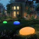 Solar brilho Cobblestone Forma Jardim Decoração Luz Ao Ar Livre Gramado RGB Gramado com remoto