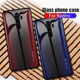 Bakeey Carbon Fiber Gradient Color Tempered Glass Protective Case for Xiaomi Redmi  Note 8 Pro