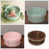 Accessori di fotografia di legno appena nati Cestino rotondo Posing Studio Baby Photography Prop Posting Accessori