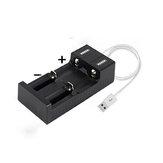 2 слота 3.7 В / 4.2 В Micro USB Батарея Зарядное устройство 18650 26650 14500 10440 Литий-ионное зарядное устройство Батарея