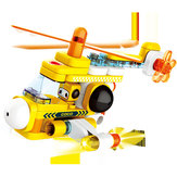 Light Traffic Series Large Particle Blocks Toys Light Submarine Helicoptor Kids Gift Collection from xiaomi youping