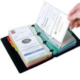 Deli 5778 Portatarjetas de visita de hojas sueltas Fácil de clasificar e instalar Tarjeta de identificación de escritorio Folleto de almacenamiento de tarjetas de identificación Organizador