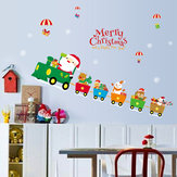 Miico SK6037 Christmas Decoration For Cartoon Wall Sticker PVC Removable Christmas Party