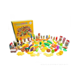 120PCS Simulation Food Children Play House Toys Props de educación temprana Fruit Food Vajilla Set