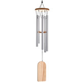 Wood Metal Pipe Wind Chimes Resonant Gong Bass Sound Chapel Church Bell Windchime Wind Chime Decorations