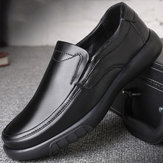 Men Genuine Leather Soft Flats