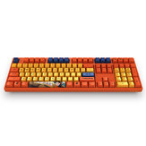 AKKO DragonBall Z GOKU 108 Key Dyesub PBT Keycap för AKKO 3108 V2 Mechanical Gaming Keyboard