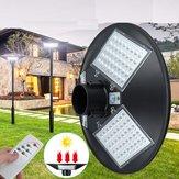 120W LED Solar Garden Light Pathway Halaman PIR Motion Sensor Lampu Jalan + Remote