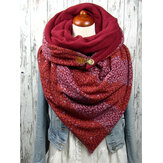 Casual Thick Warm Shawl Vintage Print Scarf