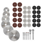 Drillpro Kit de ferramentas para rodas de corte rotativo 42pcs HSS Lâmina de serra circular Red / Black Resin / Diamond Cutting Wheels for Metal & Dremel Rotary Tools