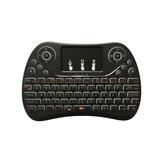 I8最大3色バックライト付き2.4 Gワイヤレス英語ミニキーボードタッチパッドエアマウスエアマウス
