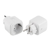 2pcs 15A EU DoHome HomeKit WiFi Smart Plug Home Power Switch Socket Outle 2.4GHzNet Works with Alexa / Google Assistant Timer No Hub No Required