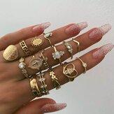 Kit de anel de ouro vintage