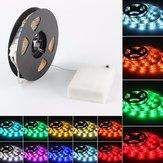 LED Strip Light 50CM 100CM 150CM 200CM 5050 Waterproof RGB Flexible Color Changing Kit for Home Kitchen TV Backlight