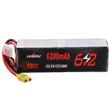 URUAV 22.2V 6200mAh 120C 6S Lipo Battery XT90 Plug for RC Drone