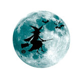 Halloween Moon Bat Glow In Dark Wall Sticker Luminous Removable Party Room Decorations