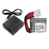 3.7V 150mAh 25C Enchufe blanco Batería de alta velocidad Lipo de polímero Batería y cargador Set para RC Drones