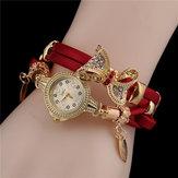 Модные женские часы-браслет с бантом Новый браслет