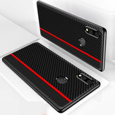 Bakeey Shockproof Carbon Fiber Soft Silicone Edge PU Leather Protective Case for Xiaomi Redmi Note 7 / Redmi Note 7 Pro Non-original