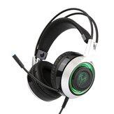 SOMiC G951 USB Gaming Kopfhörer Atmung LED Hintergrundbeleuchtung mit drei Farben Headset mit Mikrofon für Computerberuf Gamer