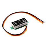 5pcs 0,28 polegadas Display digital vermelho de três fios 0-100V DC Voltímetro Medidor de voltagem ajustável