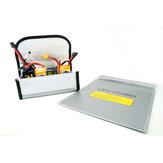 Амо Модель взрывозащищенный Противопожарные Безопасное хранение Сумка 85 * 75 * 65/230 * 300 мм для RC LiPo Батарея