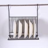 طوي مطبخ أسود الجدار شنقا طبق التخزين الجرف المنظم حامل الرف لا الحفر لتوفير مساحة