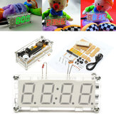 4-Digit LED رقمي Electronic Micro Controller DIY Kit ساعةحائط وقت Thermometer