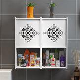 Ванная комната Кухня Стеллаж для контейнеров Настенный шкаф для умывальника без перфорации